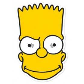 Masque Adulte Tête BART Simpson