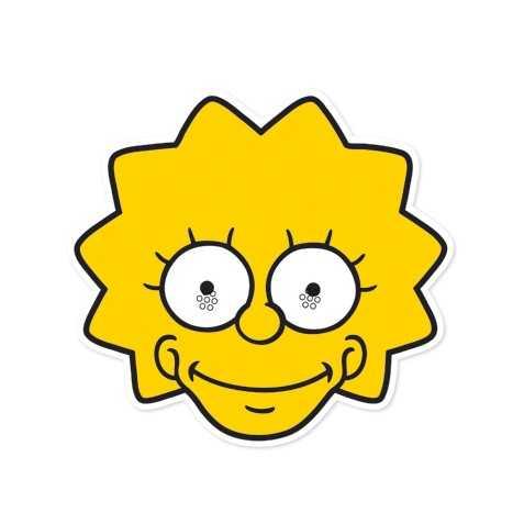 Masque carton personnage simpsons masque lisa simpson - Jeux de lisa simpson ...