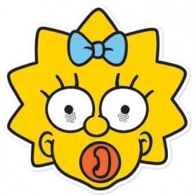 Masque Adulte Tête MAGGIE Simpson