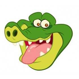 Masque Adulte Tête TIC TAC le crocodile