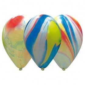 10 Ballons de fête effet Marbré