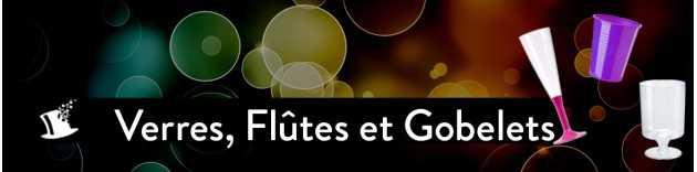 Verres, flutes et gobelets