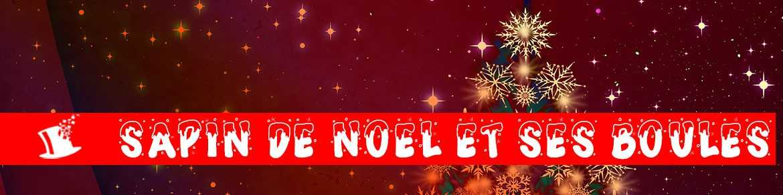 Sapin de Noel, boules et guirlandes