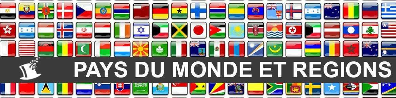 Déco de fête pays du Monde et régions de France