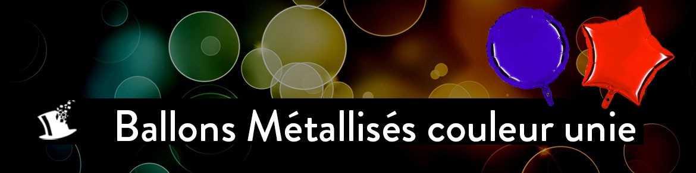 Ballons métallisés couleur unie