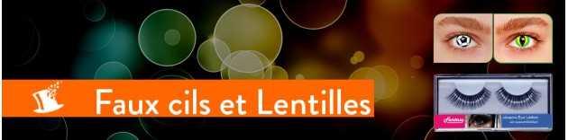 Faux-cils et Lentilles fantaisie